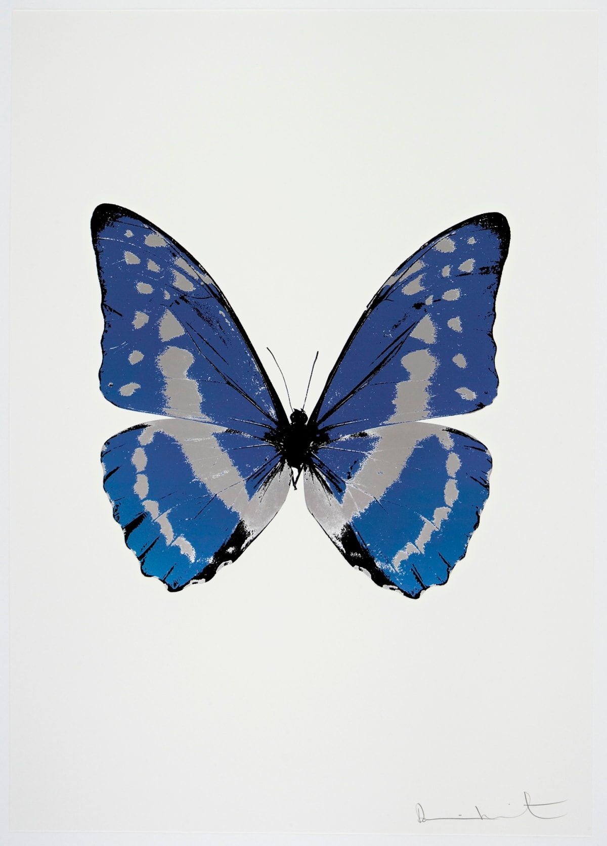 Damien Hirst The Souls III - Frost Blue/Silver Gloss/Raven Black, 2010 3 colour foil block on 300gsm Arches 88 archival paper. Signed and numbered. Published by Paul Stolper and Other Criteria 72 x 51cm OC7942 / 660-45 Edition of 15