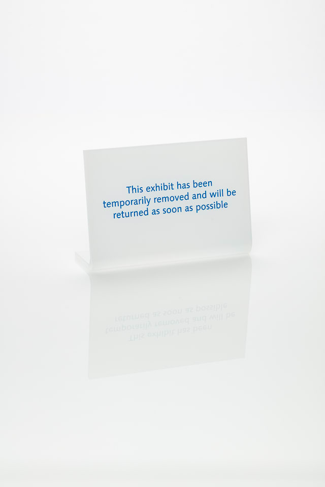 Anna Blessmann and Peter Saville This exhibit has been temporarily removed and will be returned as soon as possible, 2013 Opal 030 perspex with Pantone 3125C turquoise engraved front. Accompanied by a signed certificate. 15 x 10 x 0.5 cm Edition of 20