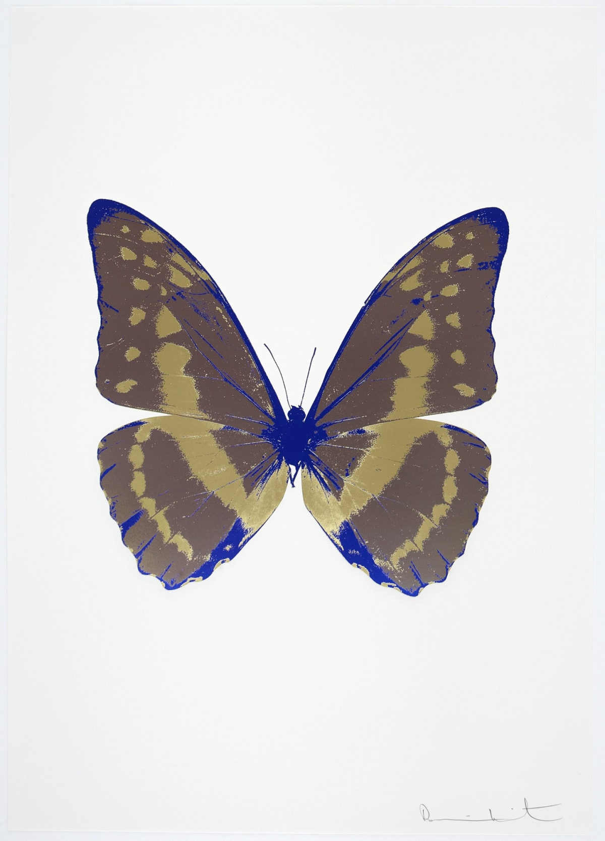 Damien Hirst The Souls III - Gunmetal/Cool Gold/Westminster Blue, 2010 3 colour foil block on 300gsm Arches 88 archival paper. Signed and numbered. Published by Paul Stolper and Other Criteria 72 x 51cm OC7902 / 660-5 Edition of 15