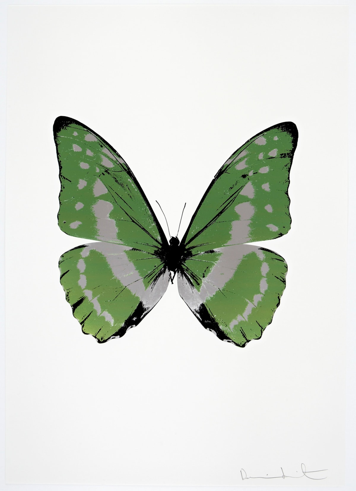 Damien Hirst The Souls III - Leaf Green/Silver Gloss/Raven Black, 2010 3 colour foil block on 300gsm Arches 88 archival paper. Signed and numbered. Published by Paul Stolper and Other Criteria 72 x 51cm OC7945 / 660-48 Edition of 15