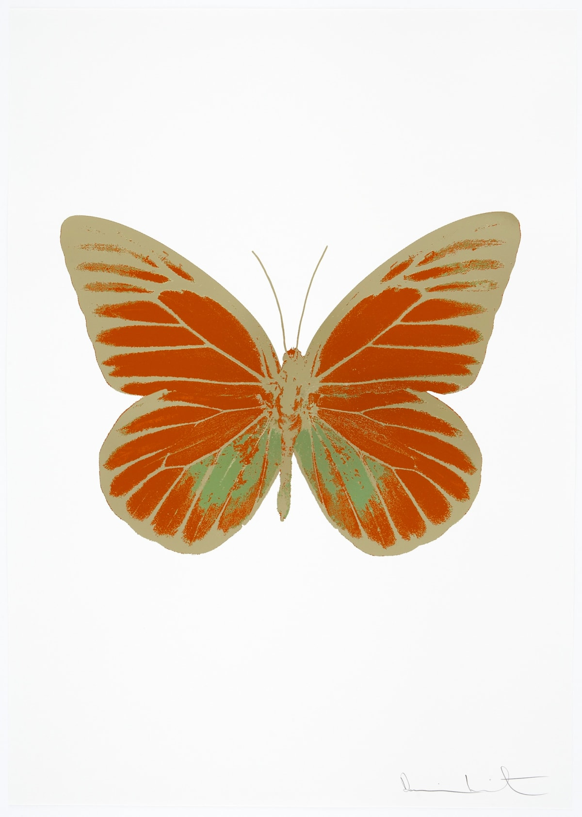 Damien Hirst The Souls I - Prairie Copper/Leaf Green/Cool Gold, 2010 3 colour foil block on 300gsm Arches 88 archival paper. Signed and numbered. Published by Paul Stolper and Other Criteria 72 x 51cm OC7759 / 659-22 Edition of 15