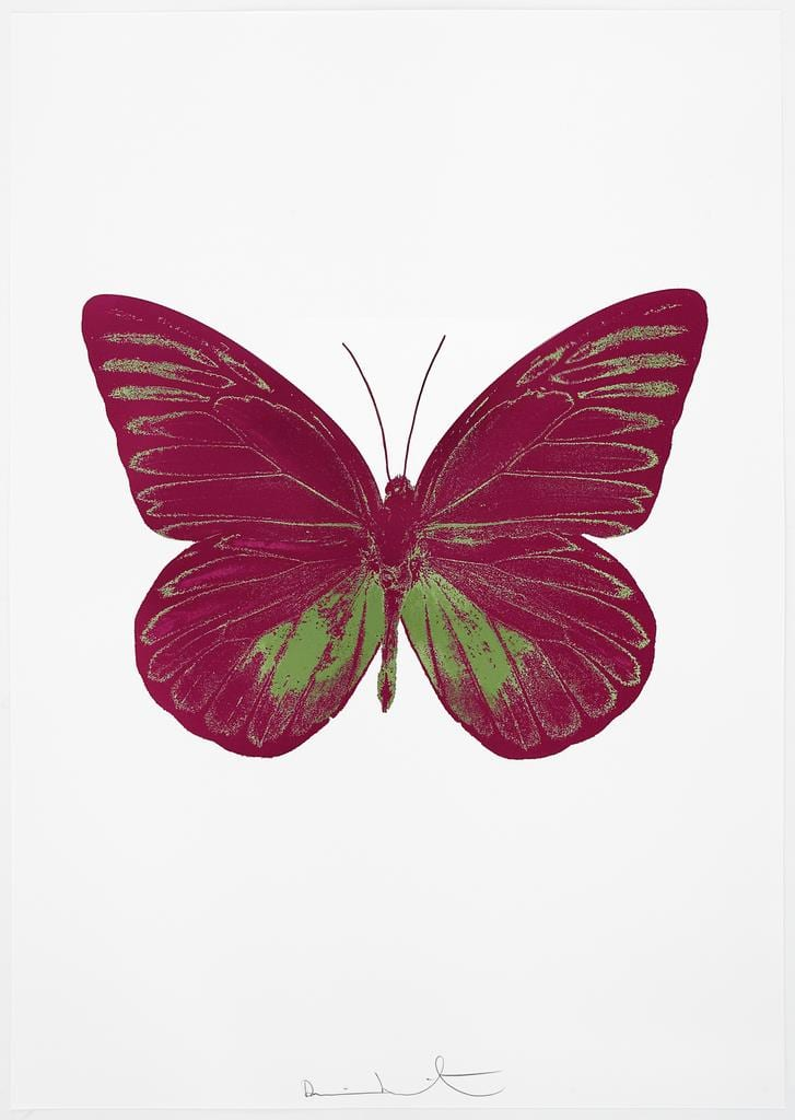 Damien Hirst The Souls I - Fuchsia Pink/Leaf Green, 2010 2 colour foil block on 300gsm Arches 88 archival paper. Signed and numbered. Published by Paul Stolper and Other Criteria 72 x 51cm OC7794 / 659-57 Edition of 15