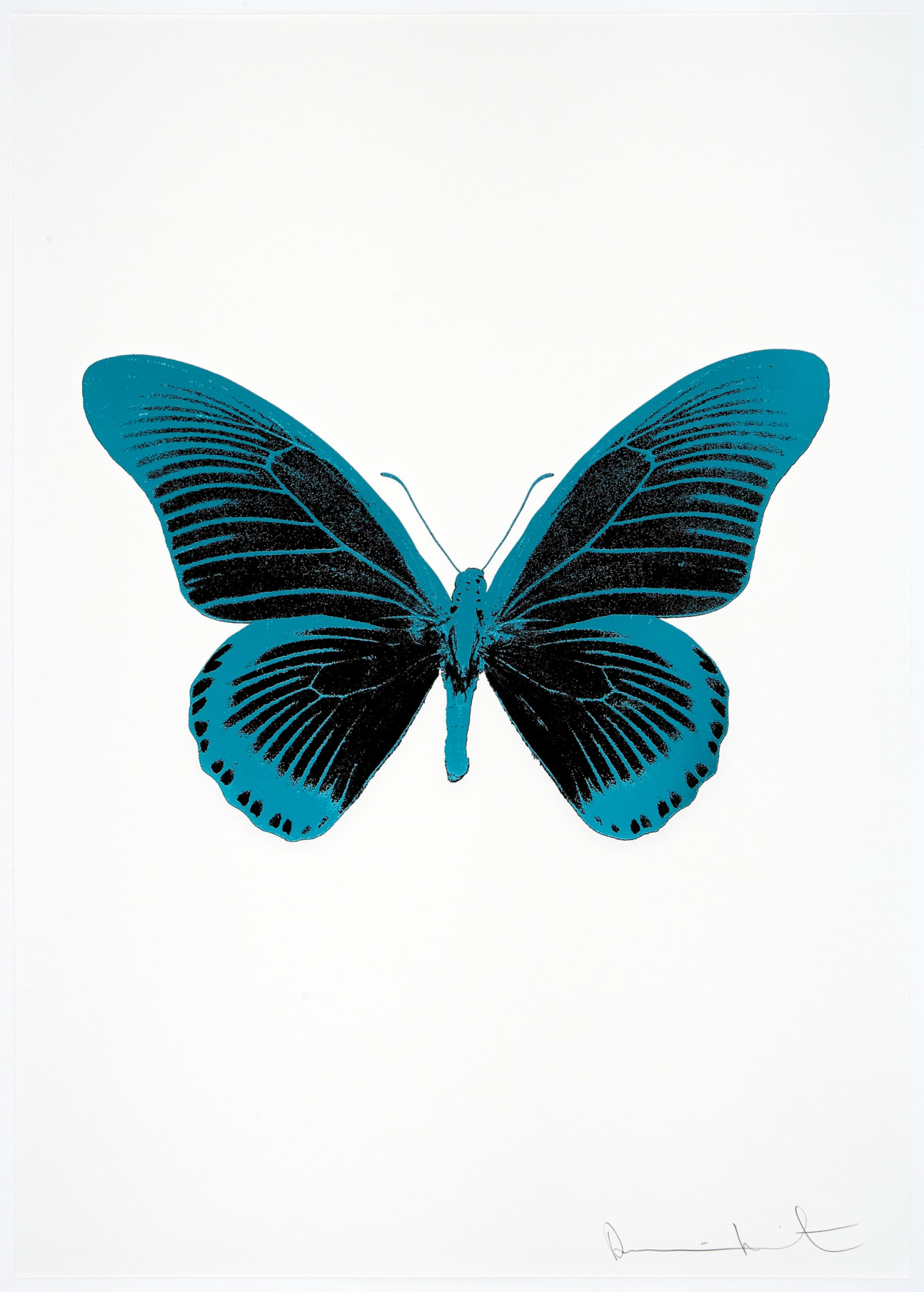 Damien Hirst The Souls IV - Raven Black/Topaz/Topaz Damien Hirst butterfly foil print for sale Damien Hirst print for sale , 2010 3 colour foil block on 300gsm Arches 88 archival paper. Signed and numbered. Published by Paul Stolper and Other Criteria 72 x 51cm OC8017 / 1418-40 Edition of 15