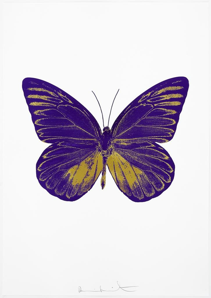 Damien Hirst The Souls I - Imperial Purple/Oriental Gold, 2010 2 colour foil block on 300gsm Arches 88 archival paper. Signed and numbered. Published by Paul Stolper and Other Criteria 72 x 51cm OC7801 / 659-64 Edition of 15