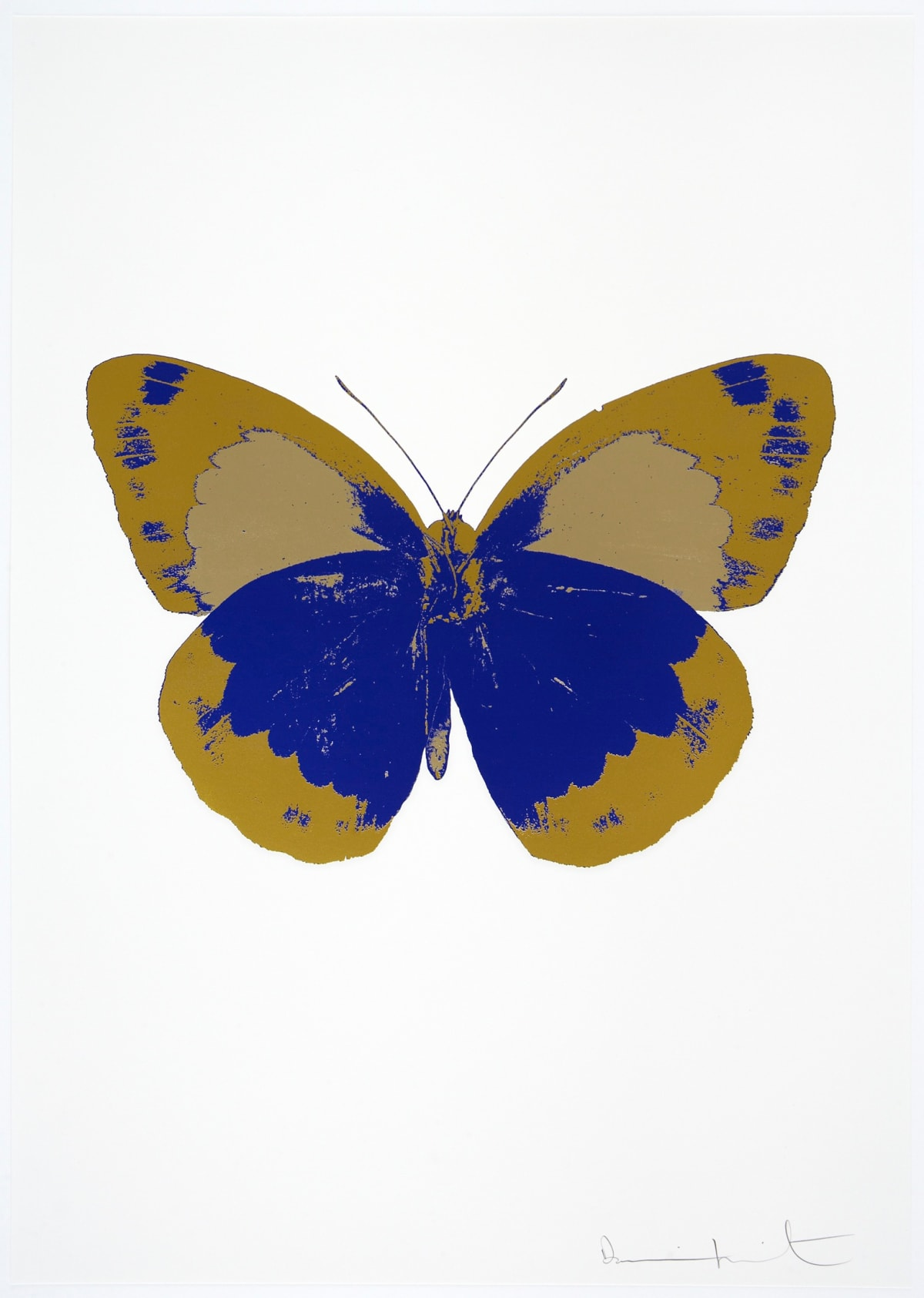 Damien Hirst The Souls II - Westminster Blue/Oriental Gold/Cool Gold, 2010 3 colour foil block on 300gsm Arches 88 archival paper. Signed and numbered. Published by Paul Stolper and Other Criteria 72 x 51cm OC7860 / 658-43 Edition of 15