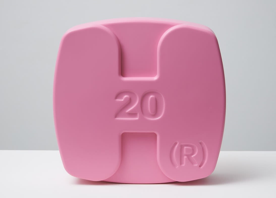 Damien Hirst Hygroton (Pink) Polyurethane resin with ink pigment. 2014.Edition of 30. Numbered, signed and dated in the cast. Published by Paul Stolper and Other Criteria. OC10058 / DHS18302 H 30 x W 30 x D 9 cm H 11.8 x W 11.8 x D Edition of 30