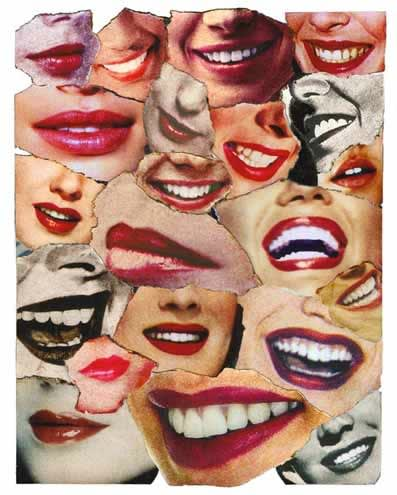 John Dove and Molly White Lips, 2010 Paper Collage. Signed, numbered and titled. Edition of 45 48.5 x 38.5cm 19.1 x 15.2 Edition of 45