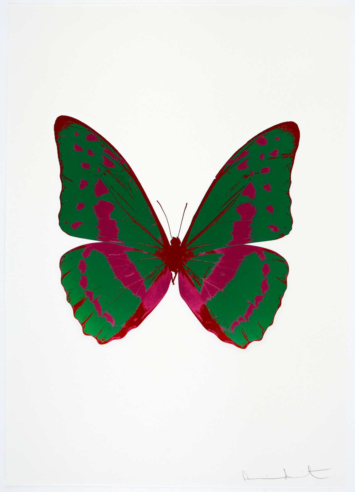 Damien Hirst The Souls III - Emerald Green/Fuchsia Pink/Chilli Red, 2010 3 colour foil block on 300gsm Arches 88 archival paper. Signed and numbered. Published by Paul Stolper and Other Criteria 72 x 51cm OC7898 / 660-1 Edition of 15