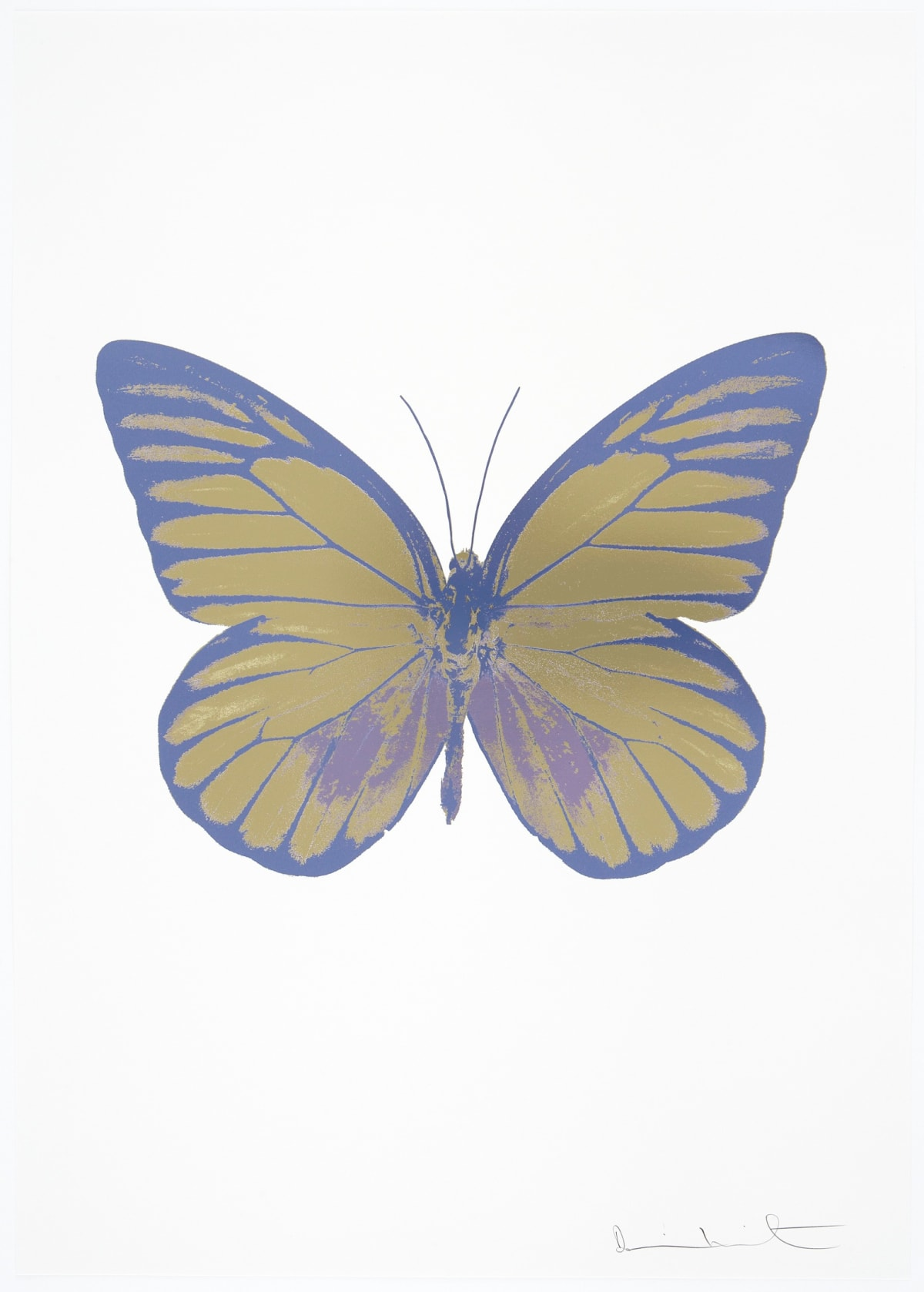 Damien Hirst The Souls I - Cool Gold/Aquarius/Cornflower Blue, 2010 3 colour foil block on 300gsm Arches 88 archival paper. Signed and numbered. Published by Paul Stolper and Other Criteria 72 x 51cm OC7761 / 659-24 Edition of 15