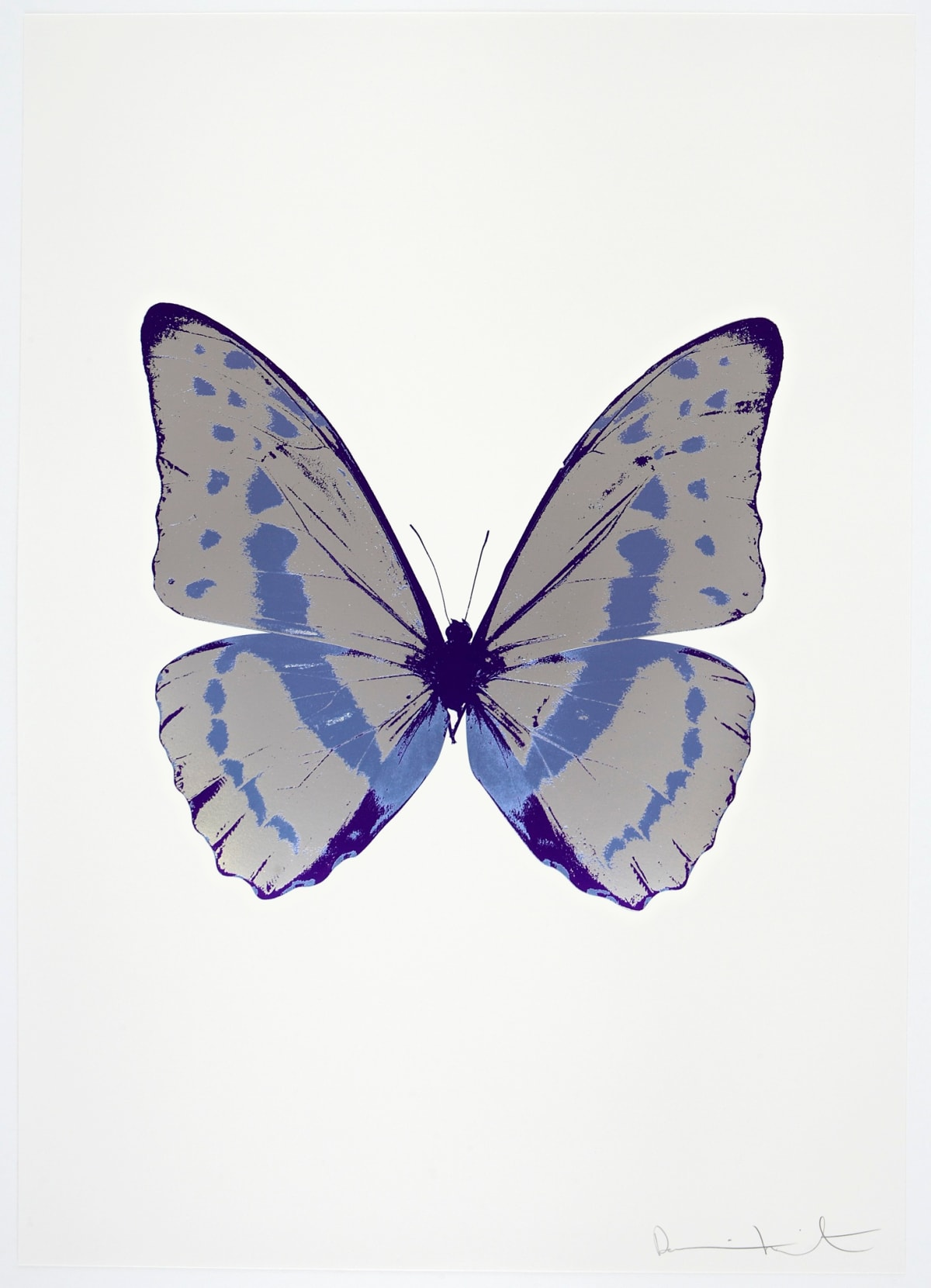Damien Hirst The Souls III - Silver Gloss/Cornflower Blue/Imperial Purple, 2010 3 colour foil block on 300gsm Arches 88 archival paper. Signed and numbered. Published by Paul Stolper and Other Criteria 72 x 51cm OC7908 / 660-11 Edition of 15