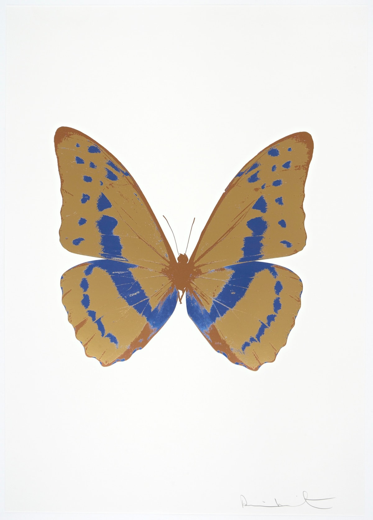 Damien Hirst The Souls III - Hazy Gold/Frost Blue/Rustic Copper, 2010 3 colour foil block on 300gsm Arches 88 archival paper. Signed and numbered. Published by Paul Stolper and Other Criteria 72 x 51cm OC7957 / 660-60 Edition of 15