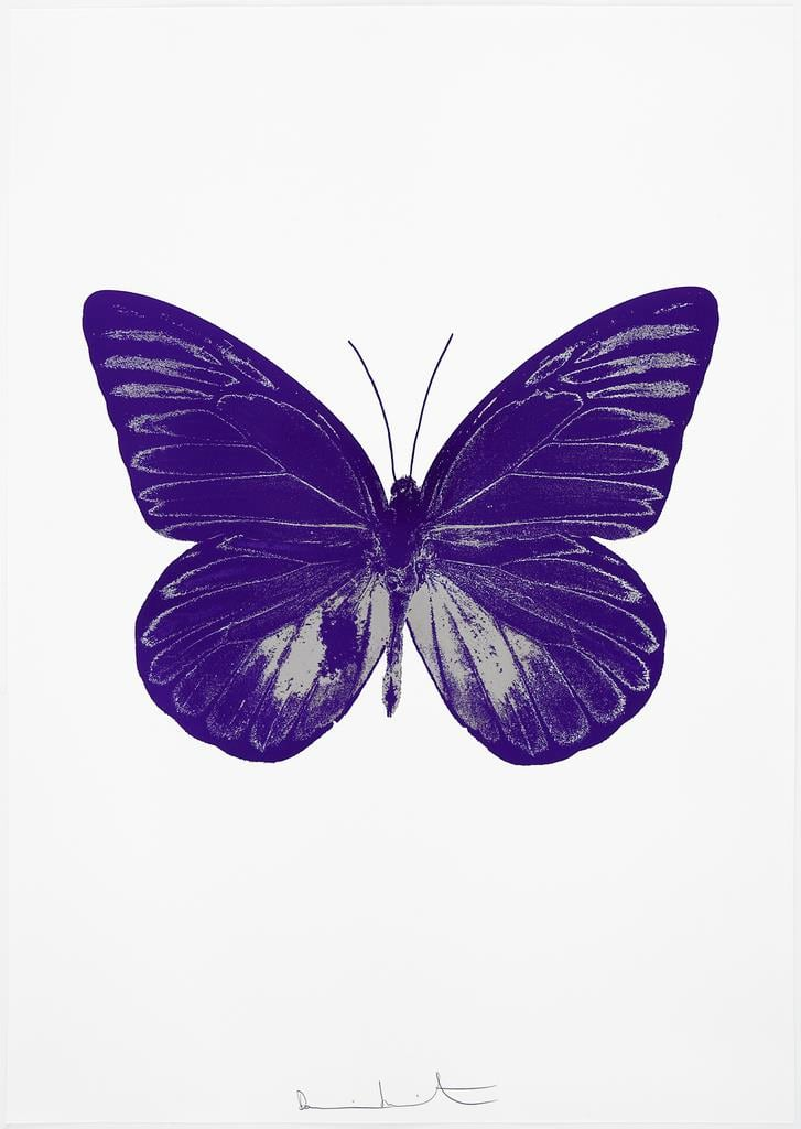 Damien Hirst The Souls I - Imperial Purple/Silver Gloss, 2010 2 colour foil block on 300gsm Arches 88 archival paper. Signed and numbered. Published by Paul Stolper and Other Criteria 72 x 51cm OC7782 / 659-45 Edition of 15