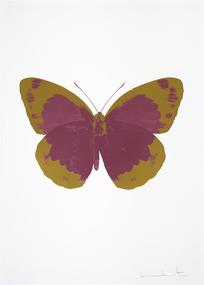 Damien Hirst The Souls II - Loganberry Pink/Oriental Gold/Blind Impression, 2010 2 colour foil block on 300gsm Arches 88 archival paper. Signed and numbered. Published by Paul Stolper and Other Criteria 72 x 51cm OC7820 / 658-3 Edition of 15