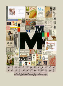 Peter Blake The Letter M, 2007 Silkscreen, embossing and glaze on Somerset satin 300gsm Signed and numbered 52 x 37.5 cm Edition of 60