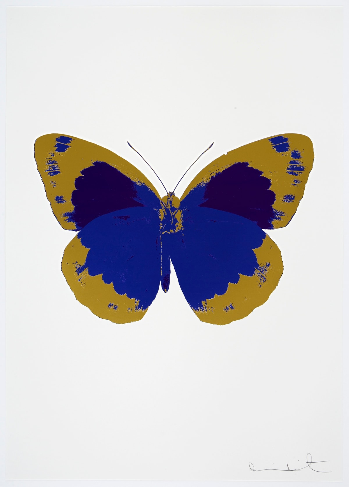 Damien Hirst The Souls II - Westminster Blue/Oriental Gold/Imperial Purple, 2010 3 colour foil block on 300gsm Arches 88 archival paper. Signed and numbered. Published by Paul Stolper and Other Criteria 72 x 51cm OC7871 / 658-54 Edition of 15