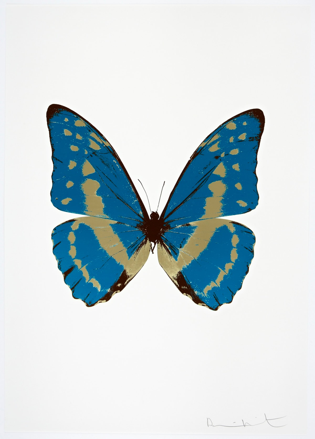 Damien Hirst The Souls III - Turquoise/Cool Gold/Chocolate, 2010 3 colour foil block on 300gsm Arches 88 archival paper. Signed and numbered. Published by Paul Stolper and Other Criteria 72 x 51cm OC7954 / 660-57 Edition of 15