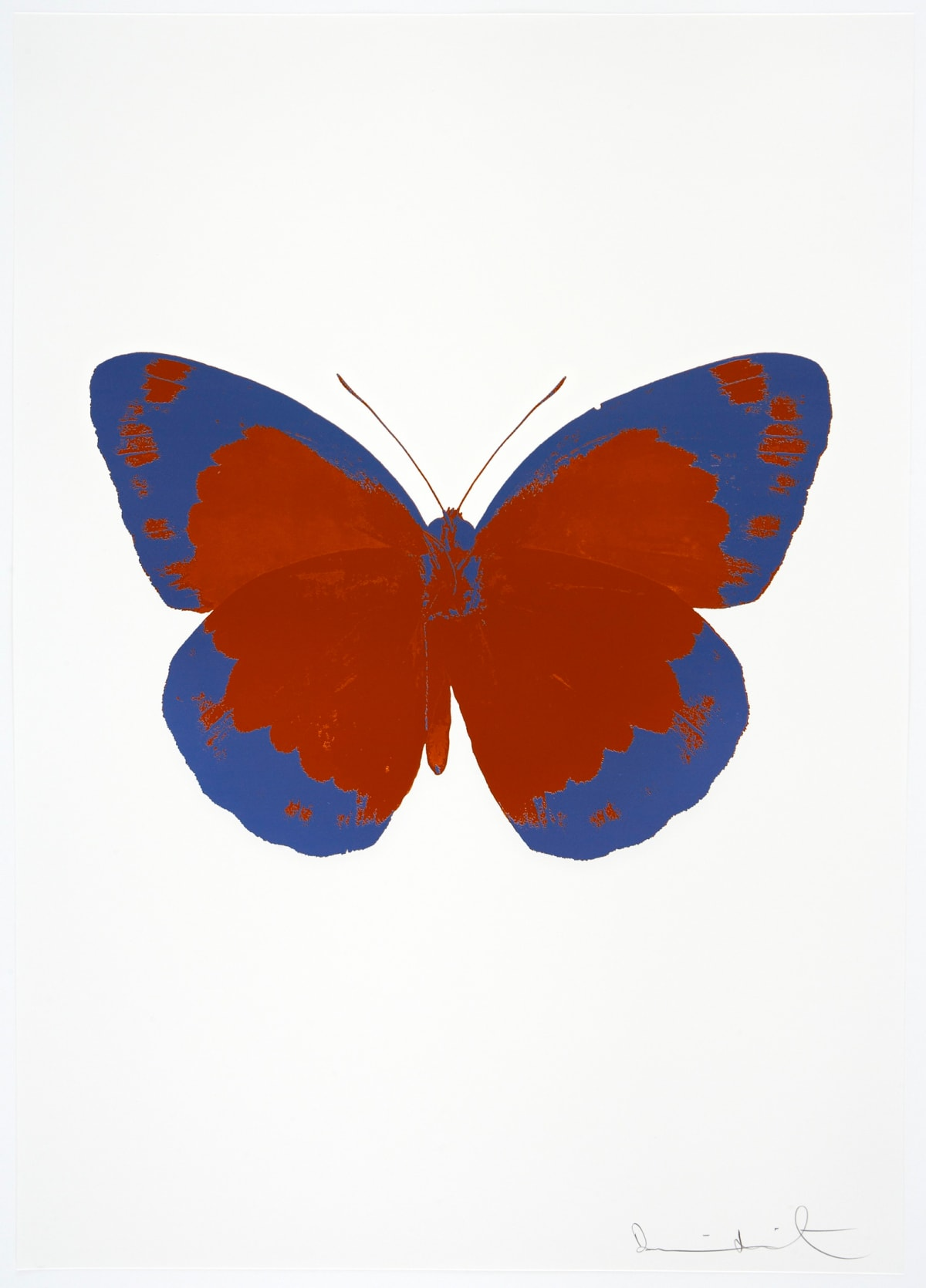 Damien Hirst The Souls II - Prairie Copper/Frost Blue/Blind Impression, 2010 2 colour foil block on 300gsm Arches 88 archival paper. Signed and numbered. Published by Paul Stolper and Other Criteria 72 x 51cm OC7891 / 658-74 Edition of 15