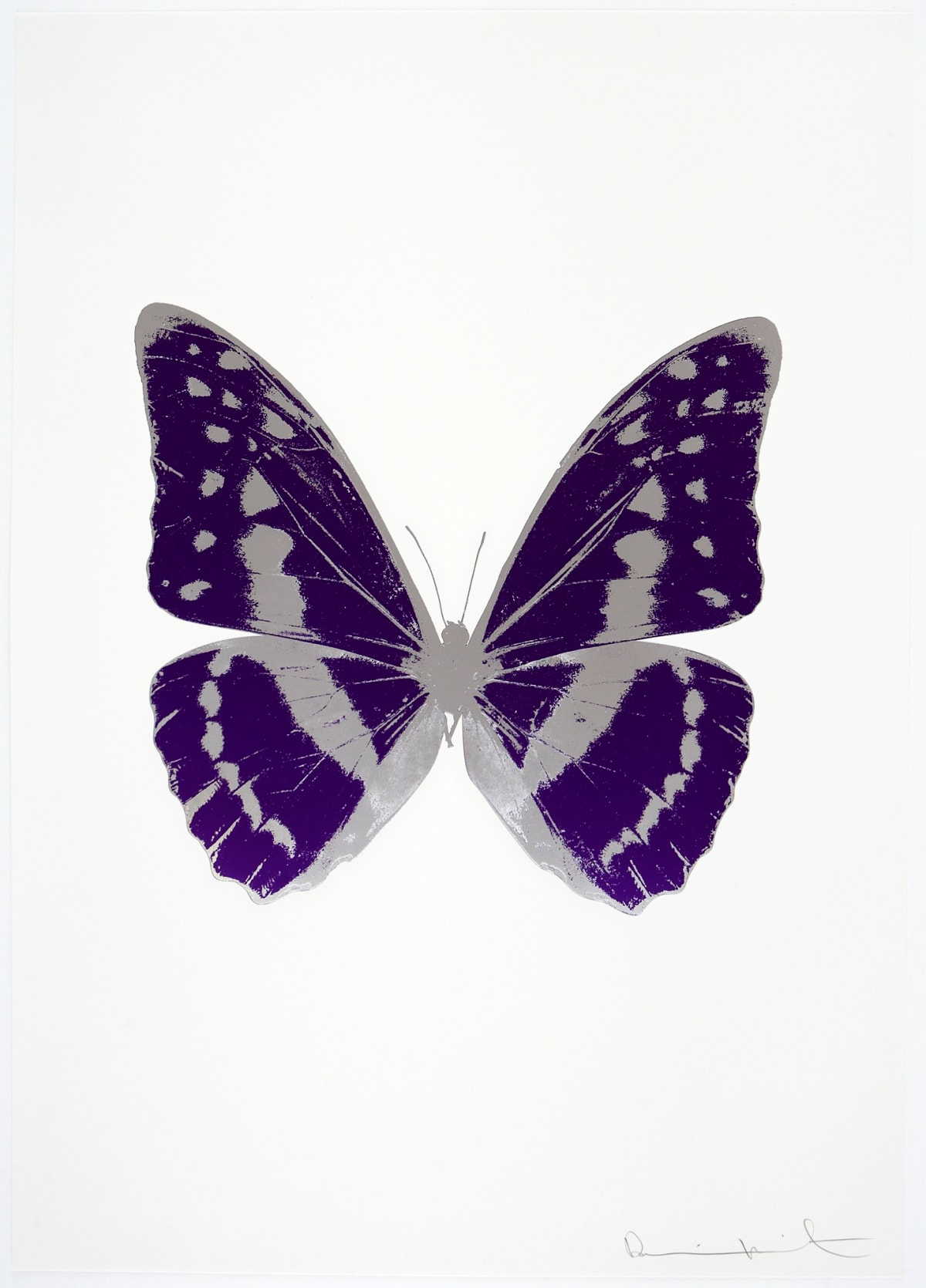 Damien Hirst The Souls III - Imperial Purple/Silver Gloss/Silver Gloss, 2010 2 colour foil block on 300gsm Arches 88 archival paper. Signed and numbered. Published by Paul Stolper and Other Criteria 72 x 51cm OC7967 / 660-70 Edition of 15