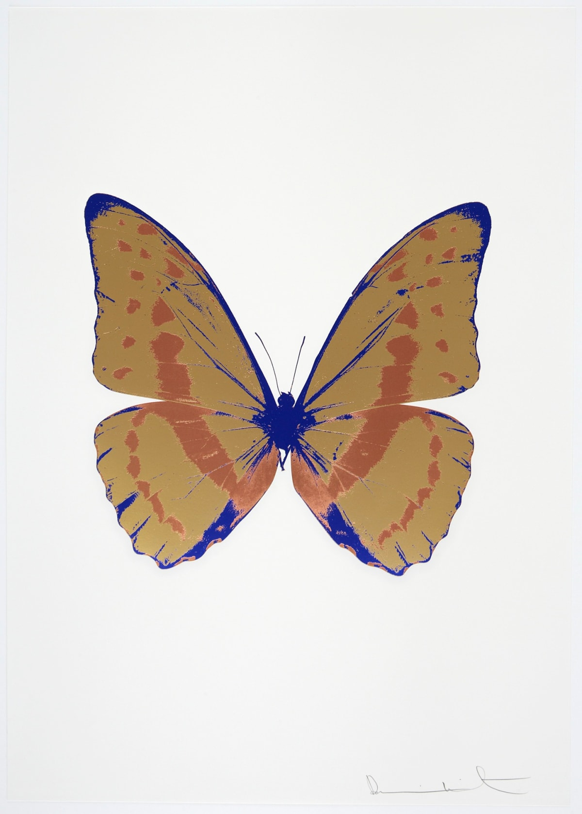 Damien Hirst The Souls III - Hazy Gold/Rustic Copper/Westminster Blue, 2010 3 colour foil block on 300gsm Arches 88 archival paper. Signed and numbered. Published by Paul Stolper and Other Criteria 72 x 51cm OC7911 / 660-14 Edition of 15