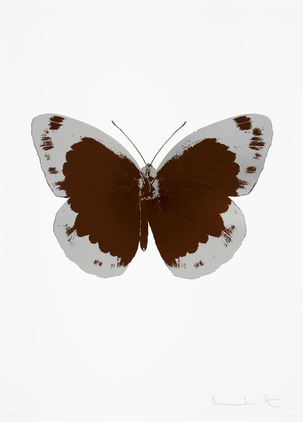 Damien Hirst The Souls II - Chocolate/Silver Gloss/Blind Impression, 2010 2 colour foil block on 300gsm Arches 88 archival paper. Signed and numbered. Published by Paul Stolper and Other Criteria 72 x 51cm OC7850 / 658-33 Edition of 15