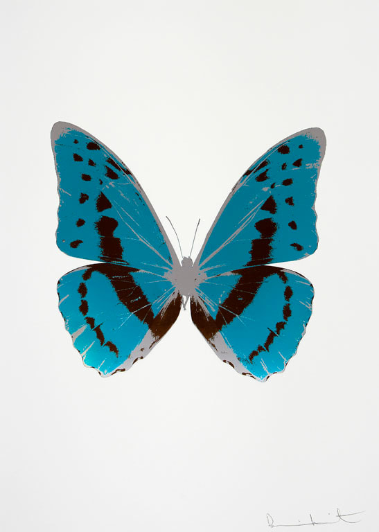 Damien Hirst The Souls III - Topaz/Chocolate/Silver Gloss, 2010 3 colour foil block on 300gsm Arches 88 archival paper. Signed and numbered. Published by Paul Stolper and Other Criteria 72 x 51cm OC7900 / 660-3 Edition of 15