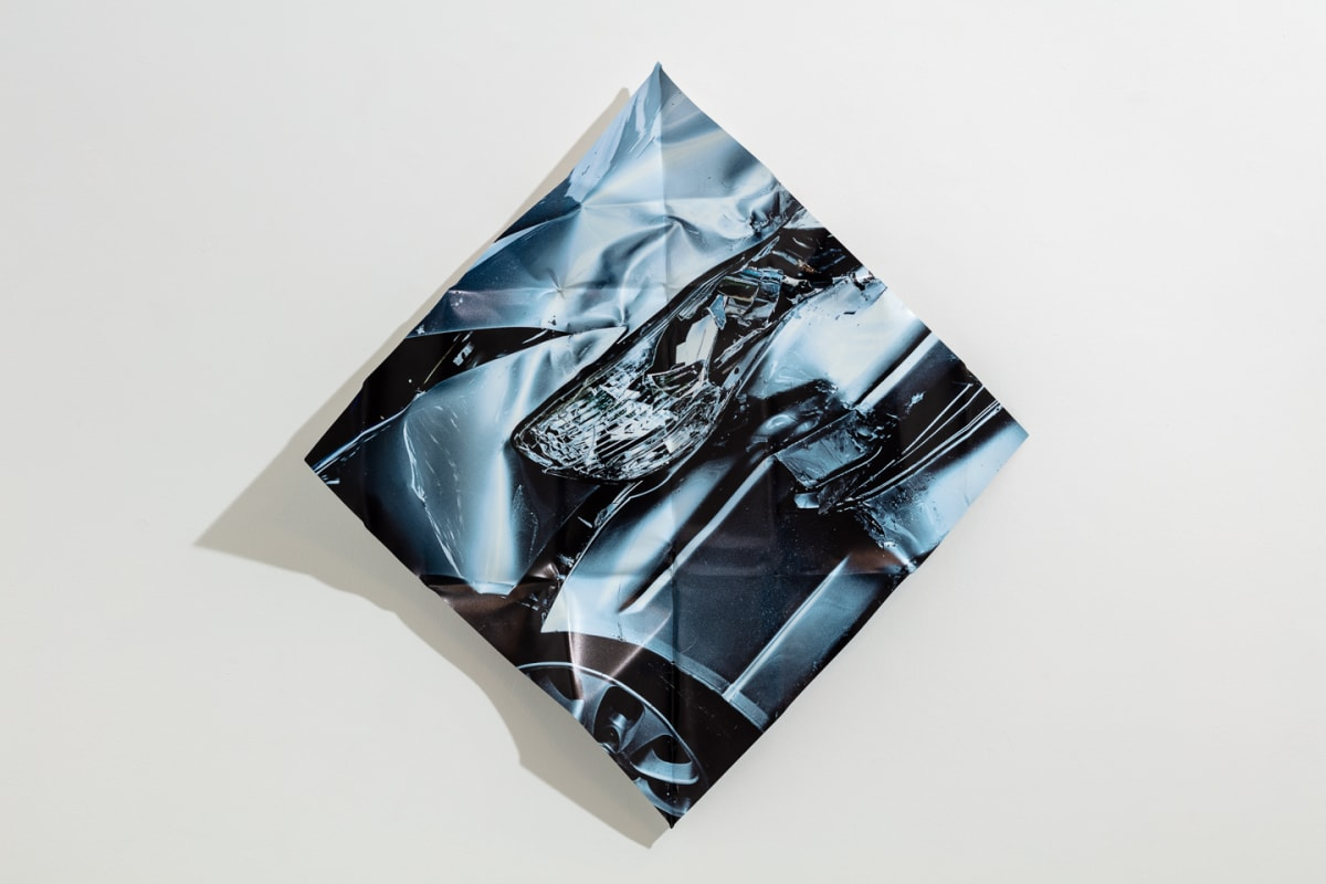 Mat Collishaw Blue Moon, 2018 Digital print on aluminium, hand folded by artist 84 x 84 x 10 cm (variable) Edition of 10 Signed and numbered