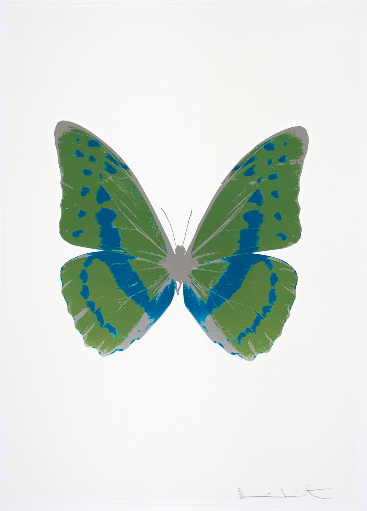 Damien Hirst The Souls III - Leaf Green/Turquoise/Silver Gloss, 2010 3 colour foil block on 300gsm Arches 88 archival paper. Signed and numbered. Published by Paul Stolper and Other Criteria 72 x 51cm OC7928 / 660-31 Edition of 15