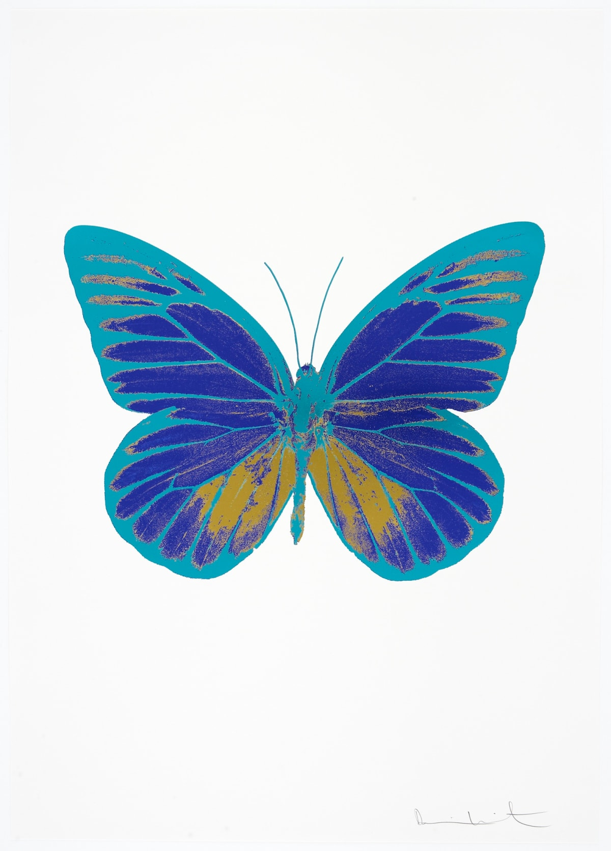 Damien Hirst The Souls I - Westminster Blue/Oriental Gold/Topaz, 2010 3 colour foil block on 300gsm Arches 88 archival paper. Signed and numbered. Published by Paul Stolper and Other Criteria 72 x 51cm OC7765 / 659-28 Edition of 15