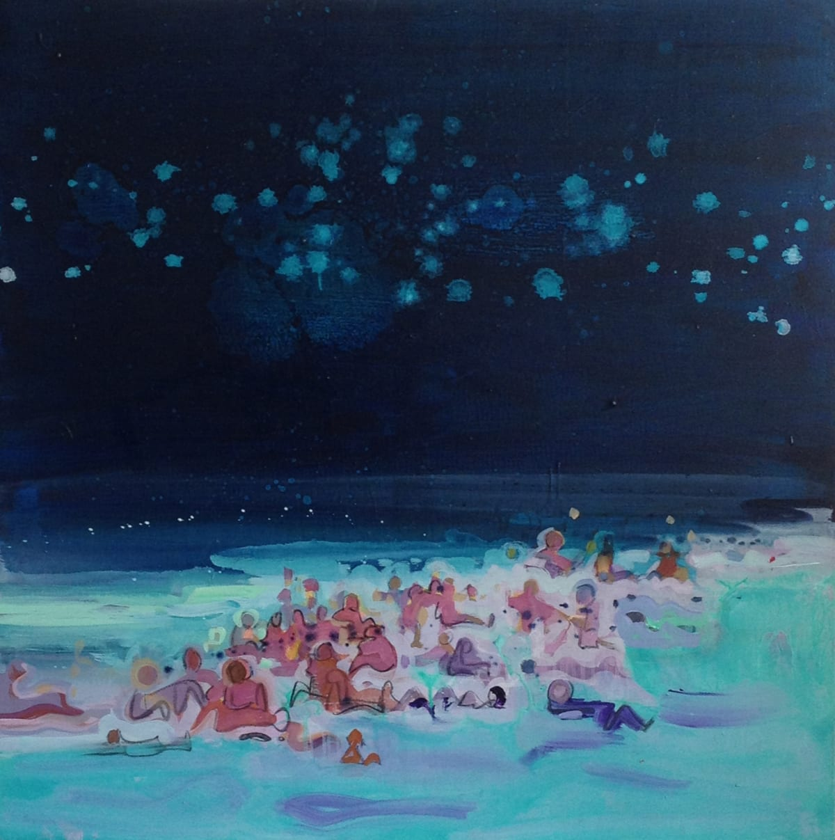 Susie Hamilton Turquoise Beach, 2009 Acrylic on canvas. Signed, titled and dated 100 x 100 cm