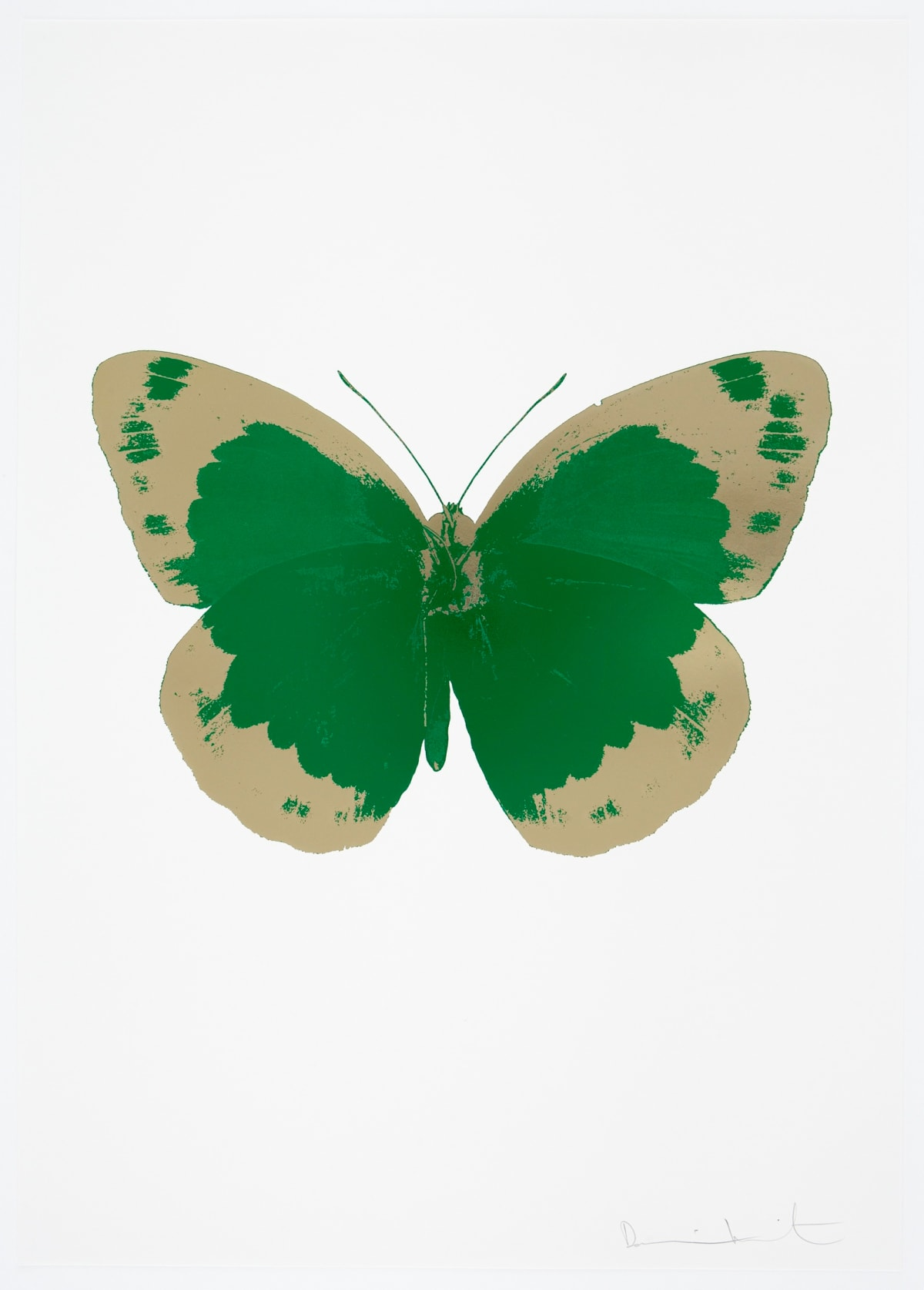 Damien Hirst The Souls II - Emerald Green/Cool Gold/Blind Impression, 2010 2 colour foil block on 300gsm Arches 88 archival paper. Signed and numbered. Published by Paul Stolper and Other Criteria 72 x 51cm OC7824 / 658-7 Edition of 15