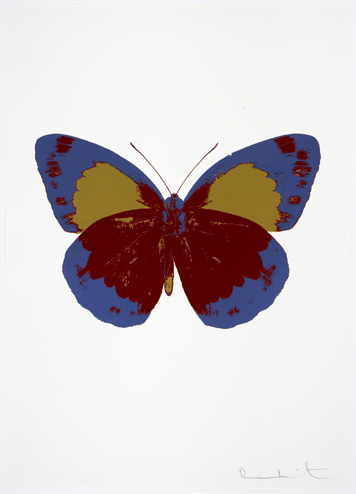 Damien Hirst The Souls II - Chilli Red/Frost Blue/Oriental Gold, 2010 3 colour foil block on 300gsm Arches 88 archival paper. Signed and numbered. Published by Paul Stolper and Other Criteria 72 x 51cm OC7866 / 658-49 Edition of 15