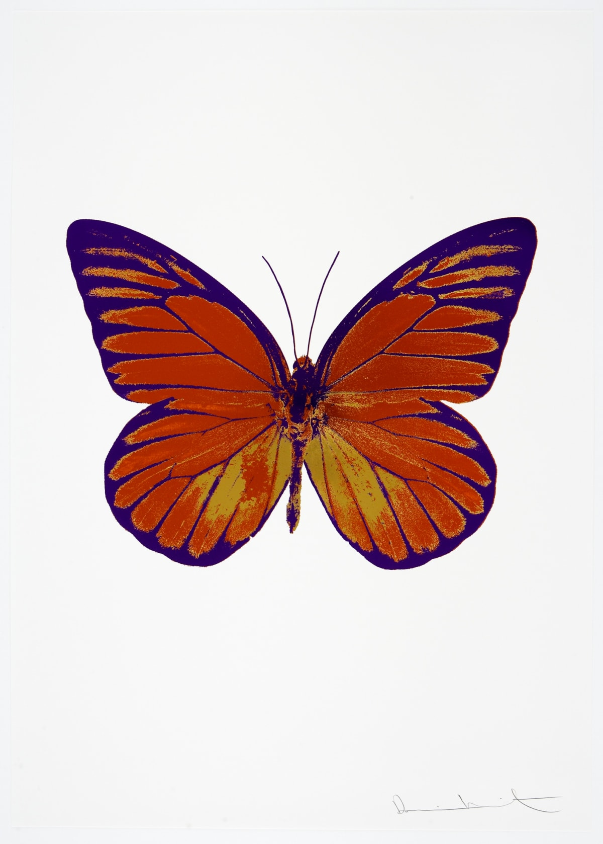 Damien Hirst The Souls I - Prairie Copper/Oriental Gold/Imperial Purple, 2010 3 colour foil block on 300gsm Arches 88 archival paper. Signed and numbered. Published by Paul Stolper and Other Criteria 72 x 51cm OC7777 / 659-40 Edition of 15
