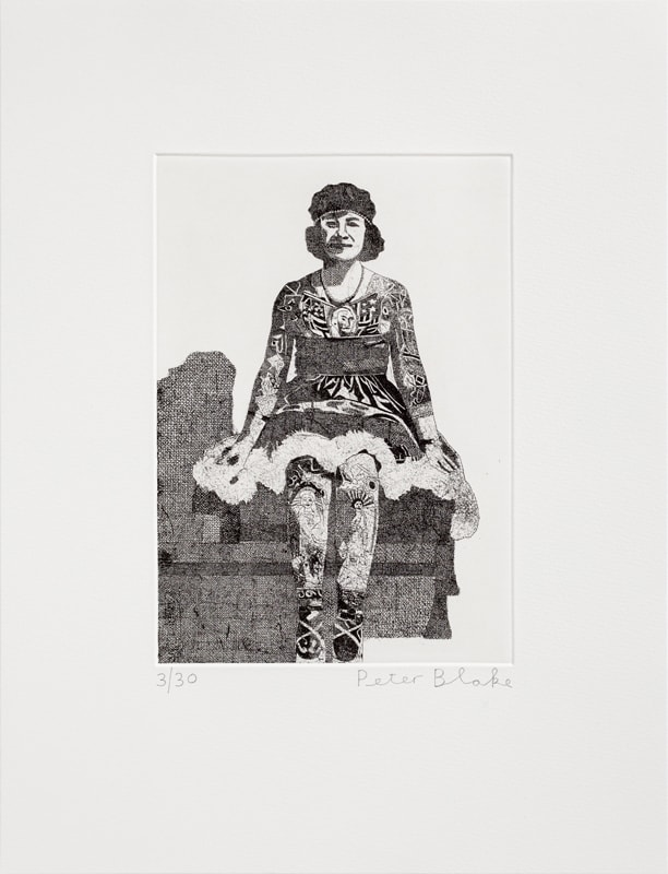 Peter Blake Liberty Beauty Rose, 2014 Etching on Somerset white 300gsm. Signed and numbered. 43 x 33 cm Edition of 30
