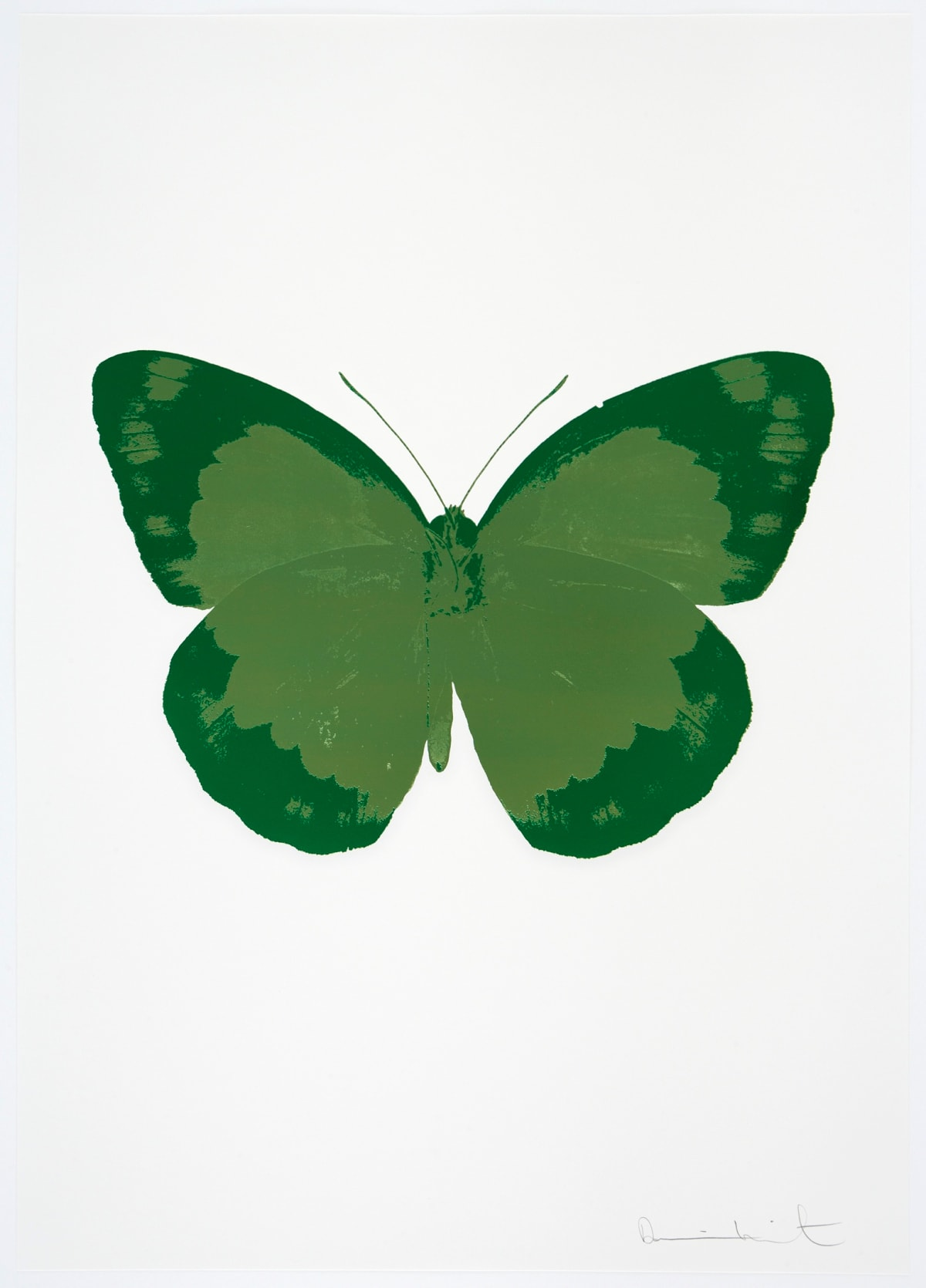 Damien Hirst The Souls II - Leaf Green/Emerald Green/Blind Impression, 2010 2 colour foil block on 300gsm Arches 88 archival paper. Signed and numbered. Published by Paul Stolper and Other Criteria 72 x 51cm OC7889 / 658-72 Edition of 15