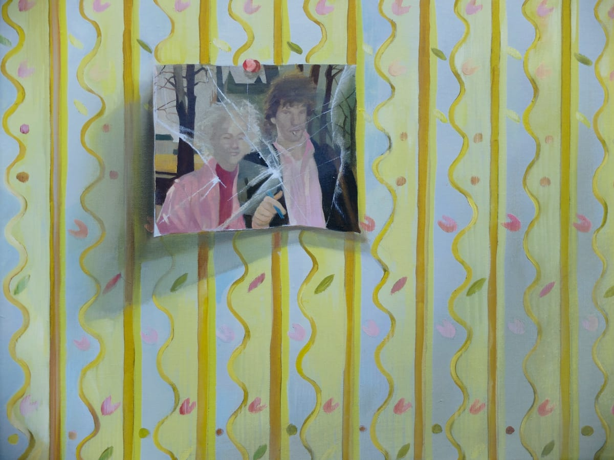 Grace O'Connor Your pretty flowered bedroom, 2016 Oil on canvas. Signed on verso 30.5 x 46 cm