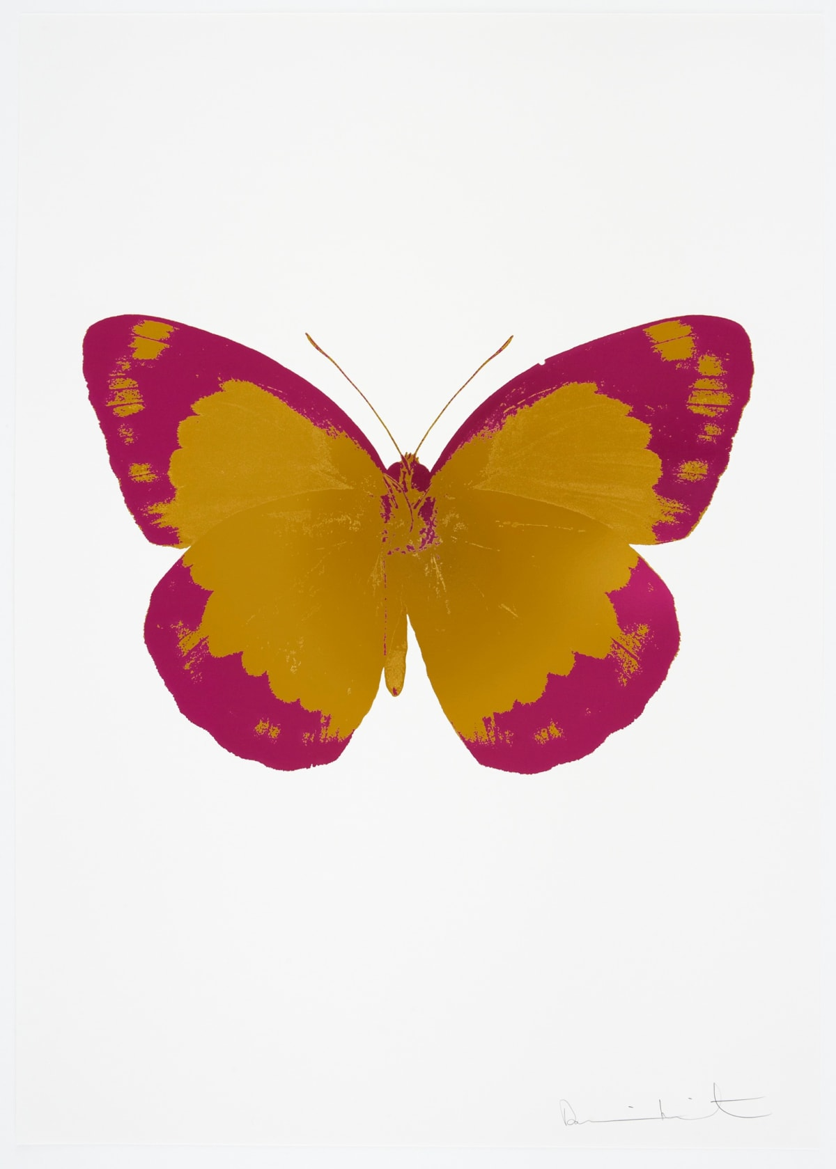 Damien Hirst The Souls II - Paradise Copper/Fuchsia Pink/Blind Impression, 2010 2 colour foil block on 300gsm Arches 88 archival paper. Signed and numbered. Published by Paul Stolper and Other Criteria 72 x 51cm OC7837 / 658-20 Edition of 15