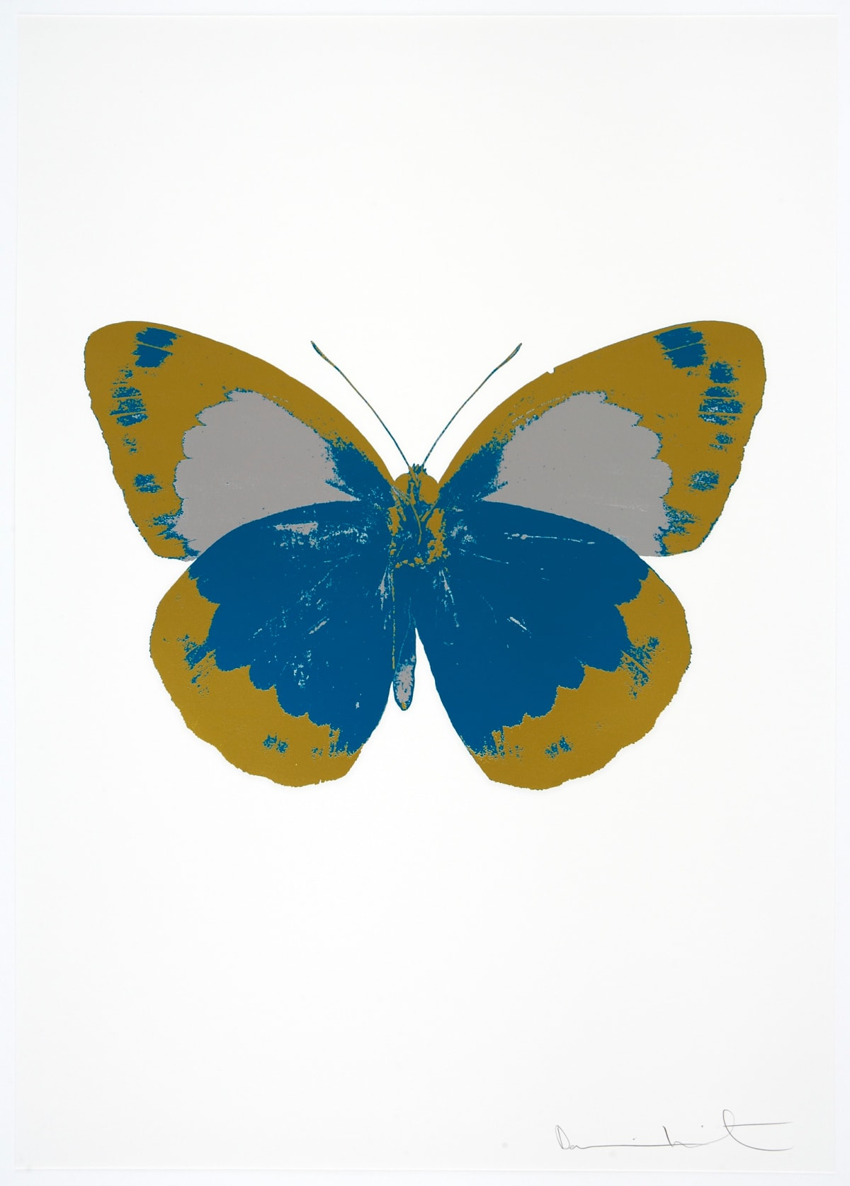 Damien Hirst The Souls II - Turquoise/Oriental Gold/ Silver Gloss, 2010 3 colour foil block on 300gsm Arches 88 archival paper. Signed and numbered. Published by Paul Stolper and Other Criteria 72 x 51cm OC7869 / 658-52 Edition of 15