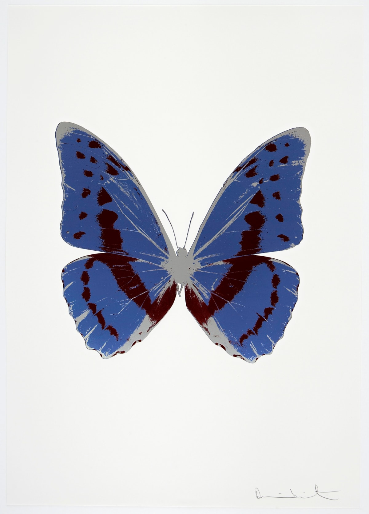 Damien Hirst The Souls III - Frost Blue/Burgundy/Silver Gloss, 2010 3 colour foil block on 300gsm Arches 88 archival paper. Signed and numbered. Published by Paul Stolper and Other Criteria 72 x 51cm OC7941 / 660-44 Edition of 15
