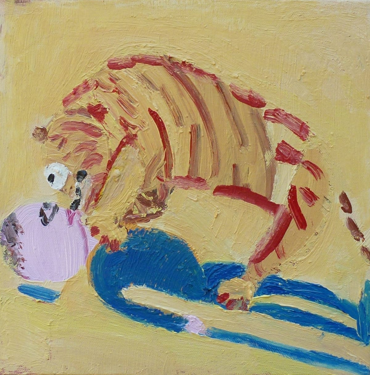 Georgia Hayes Typhoo Tiger, 2016 Oil on canvas. Signed on verso 30 x 30 cm