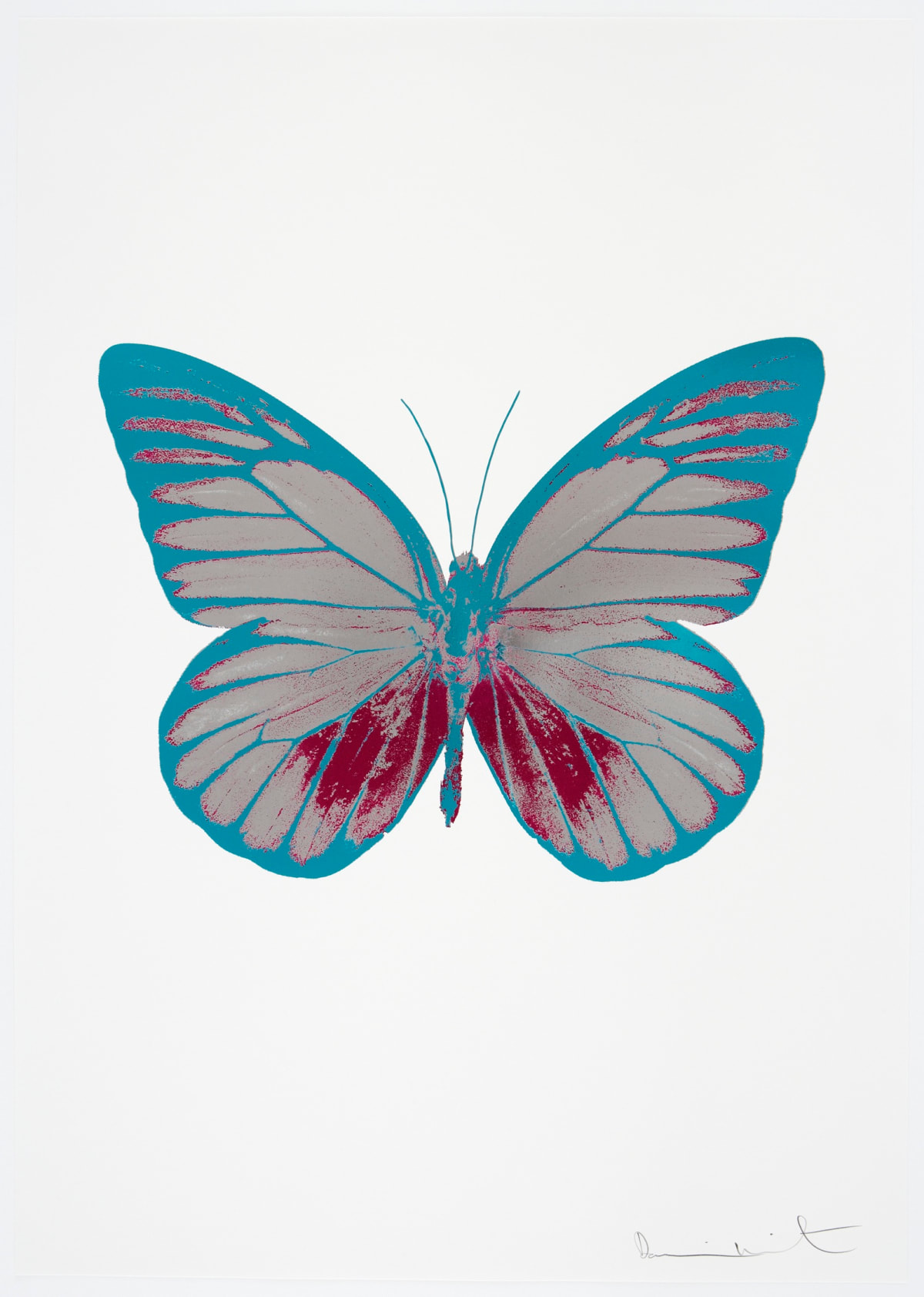 Damien Hirst The Souls I - Silver Gloss/Fuchsia Pink/Topaz, 2010 3 colour foil block on 300gsm Arches 88 archival paper. Signed and numbered. Published by Paul Stolper and Other Criteria 72 x 51cm OC7738 / 659-1 Edition of 15
