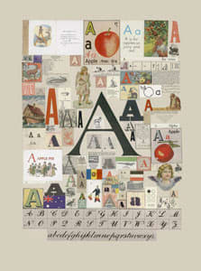 Peter Blake The Letter A, 2007 Silkscreen, embossing and glaze on Somerset satin 300gsm Signed and numbered 52 x 37.5 cm Edition of 60