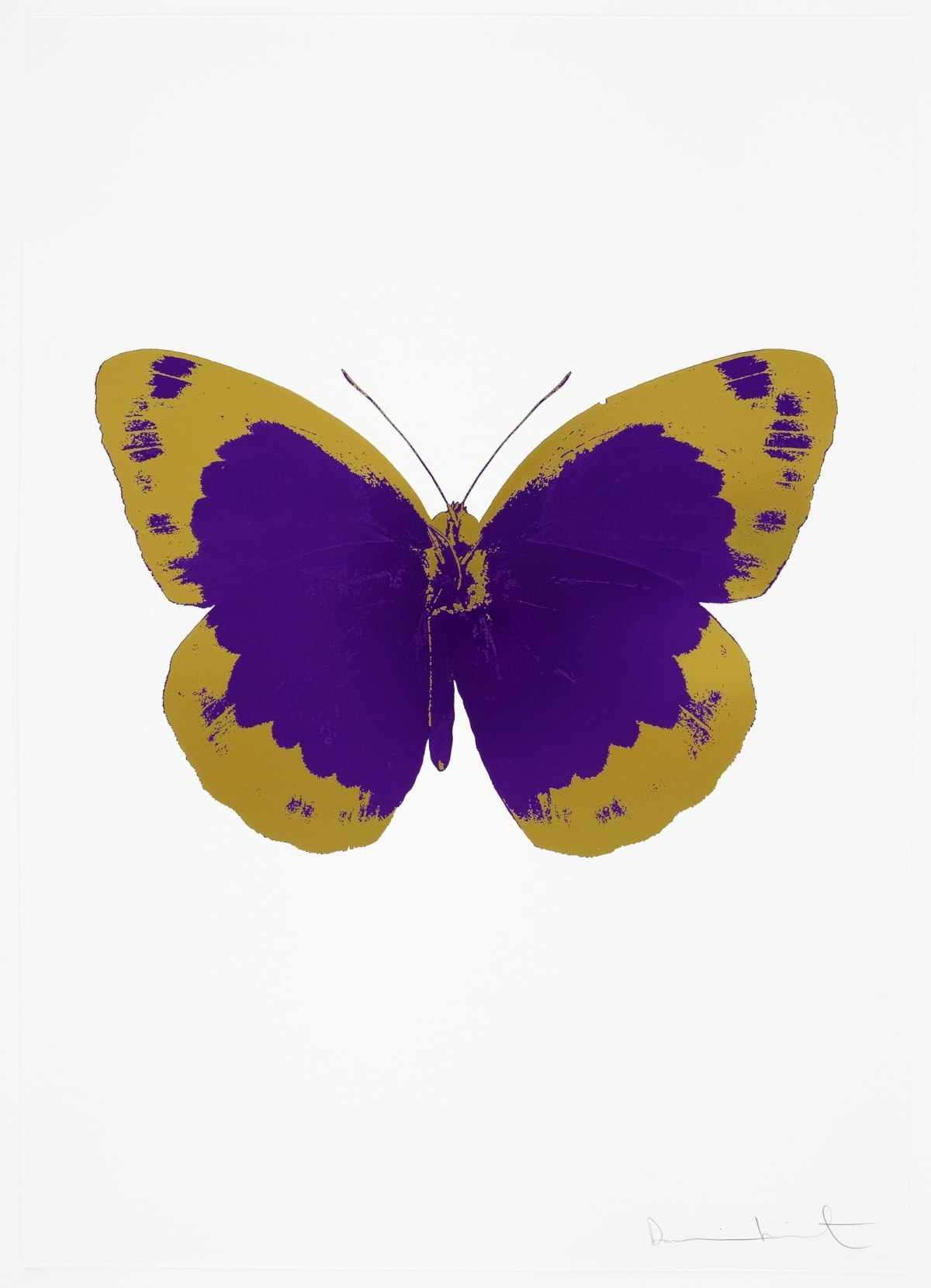 Damien Hirst The Souls II - Imperial Purple/Oriental Gold/Blind Impression, 2010 2 colour foil block on 300gsm Arches 88 archival paper. Signed and numbered. Published by Paul Stolper and Other Criteria 72 x 51cm OC7851 /658-34 Edition of 15