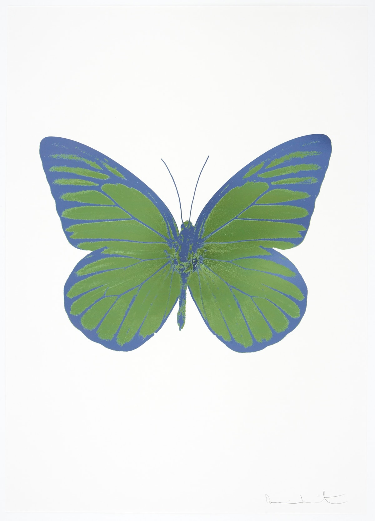 Damien Hirst The Souls I - Leaf Green/Blind Impression/ Cornflower Blue, 2010 2 colour foil block on 300gsm Arches 88 archival paper. Signed and numbered. Published by Paul Stolper and Other Criteria 72 x 51cm OC7813 / 659-76 Edition of 15