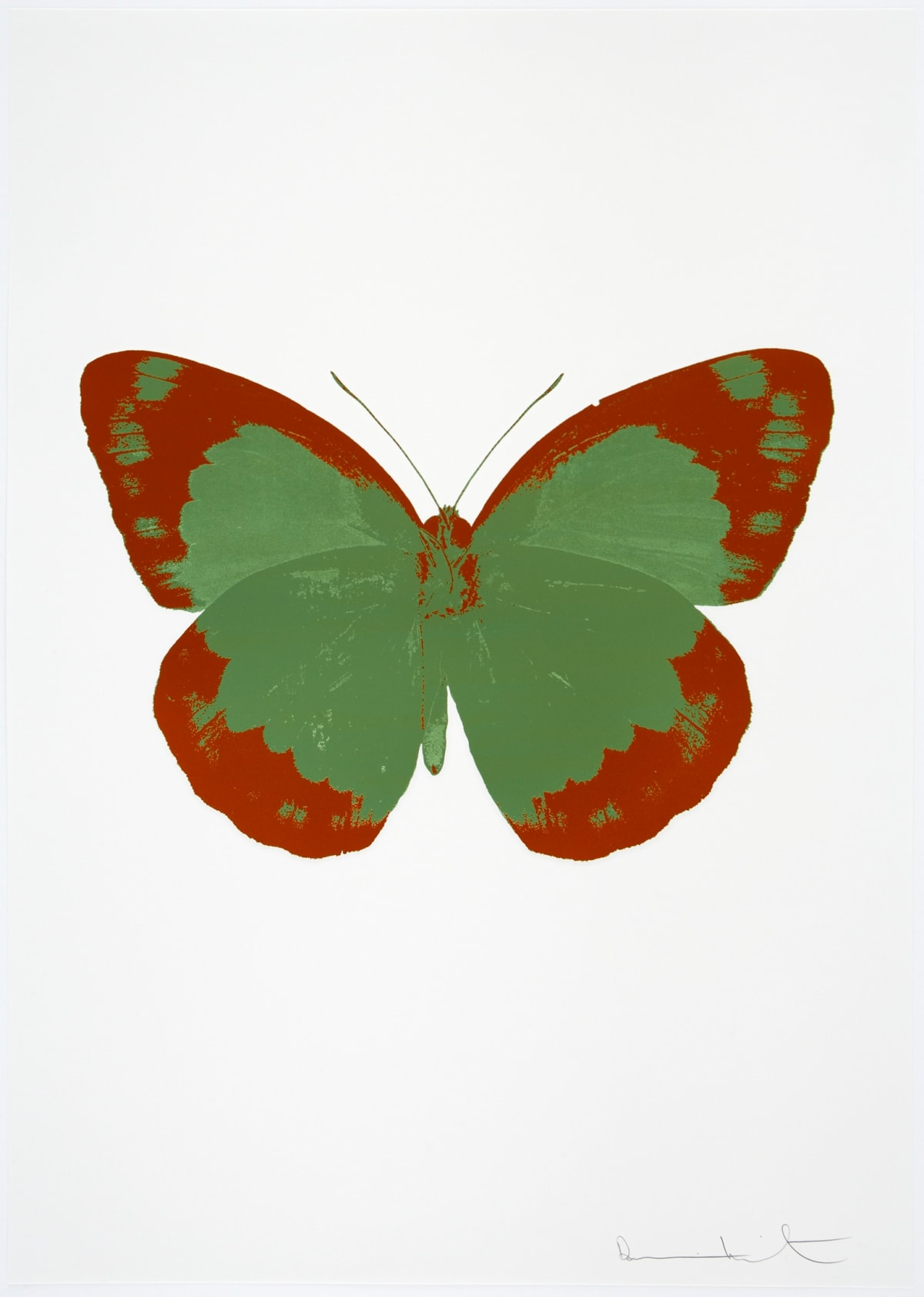 Damien Hirst The Souls II - Leaf Green/Prairie Copper/Blind Impression, 2010 2 colour foil block on 300gsm Arches 88 archival paper. Signed and numbered. Published by Paul Stolper and Other Criteria 72 x 51cm OC7835 / 658-18 Edition of 15