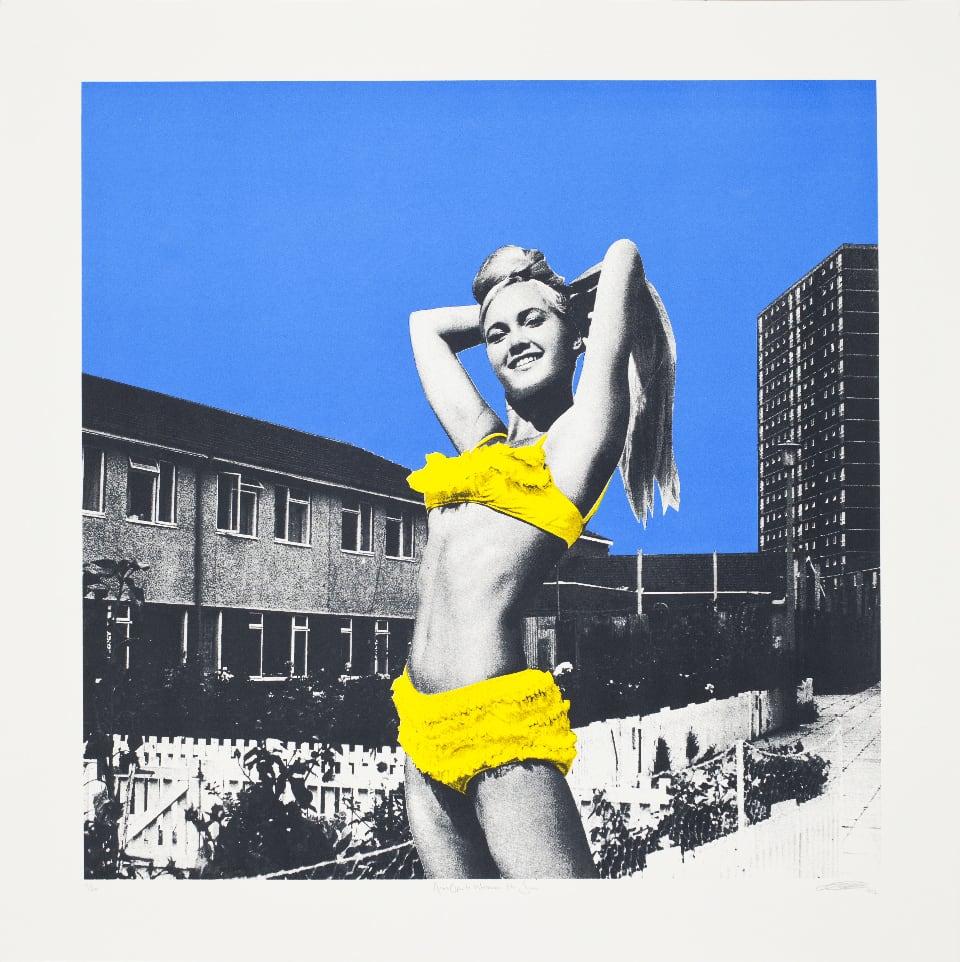 Sarah Hardacre Arms Open to Welcome the Sun, 2012 3 colour on 410 gsm Somerset Tub Sized. Signed, titled and numbered by the artist. 70 x 70 cm Edition of 30