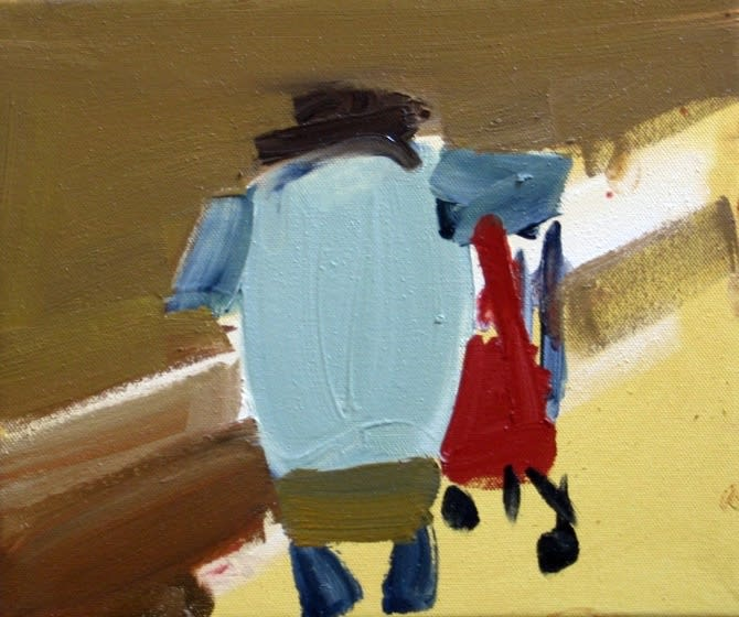 Susie Hamilton Lidl Woman / 3, 2011 Oil on canvas. Signed, titled and dated 25 x 30.5 cm