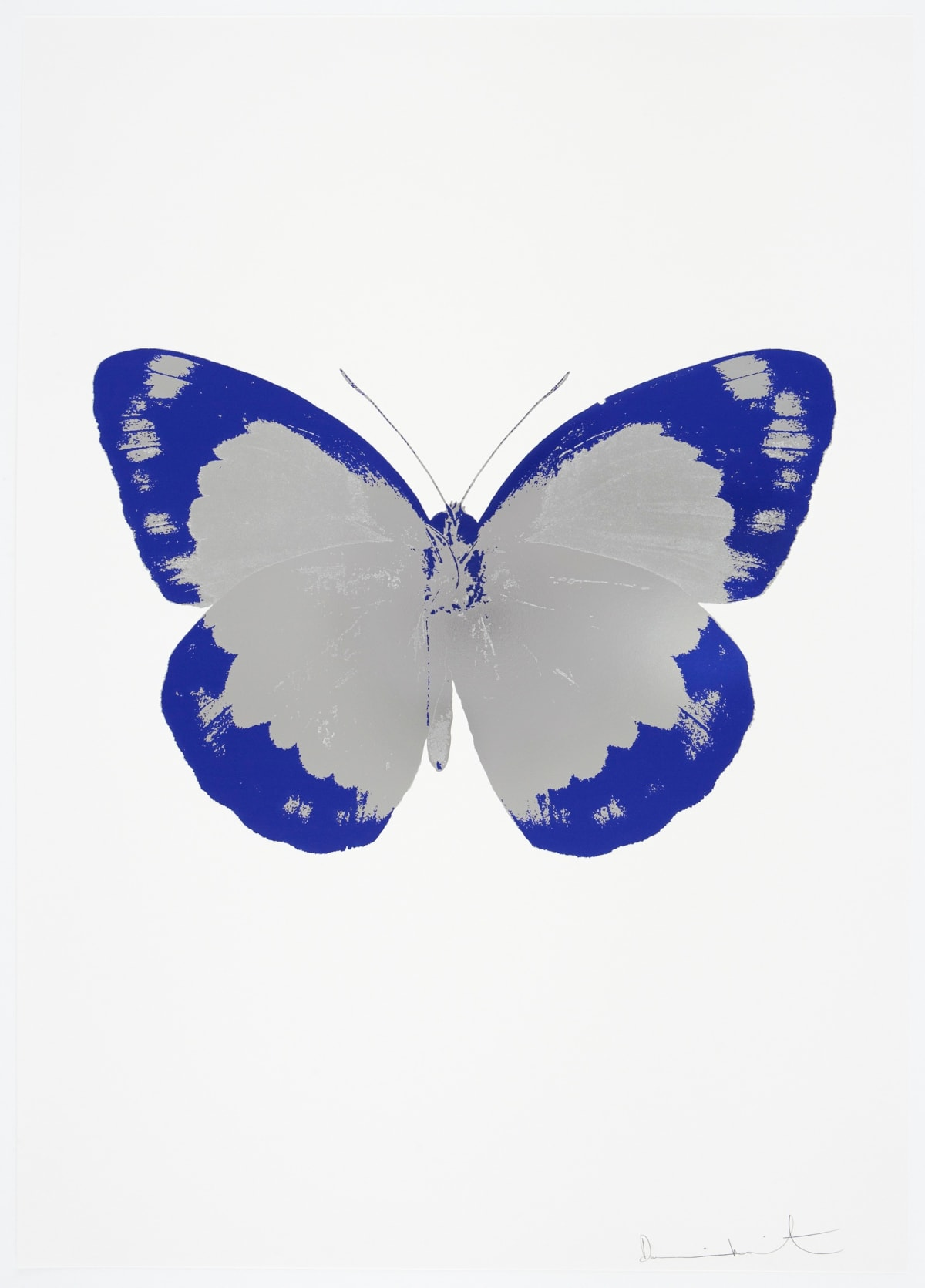 Damien Hirst The Souls II - Silver Gloss/Westminster Blue/Blind Impression, 2010 2 colour foil block on 300gsm Arches 88 archival paper. Signed and numbered. Published by Paul Stolper and Other Criteria 72 x 51cm OC7842 / 658-25 Edition of 15