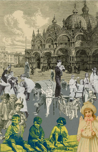 Peter Blake Venice - 'Childrens Games', 2009 Silkscreen printed on 400gsm Somerset tub Sized Signed and numbered by the artist 40.65 x 30.5 cm Edition of 75