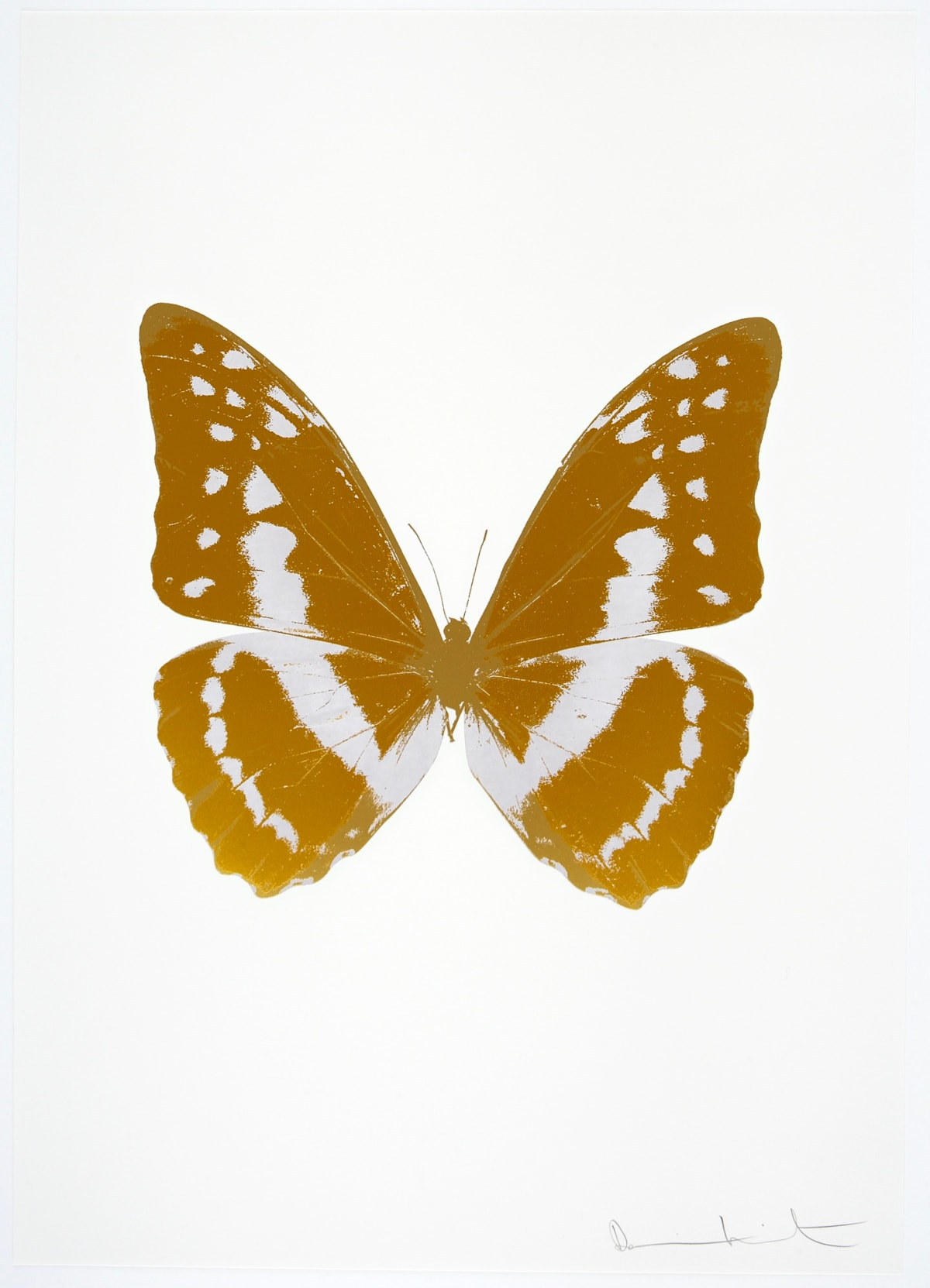 Damien Hirst The Souls III - Paradise Copper/Cotton White/ Luxury Gold, 2010 3 colour foil block on 300gsm Arches 88 archival paper. Signed and numbered. Published by Paul Stolper and Other Criteria 72 x 51cm Edition of 15