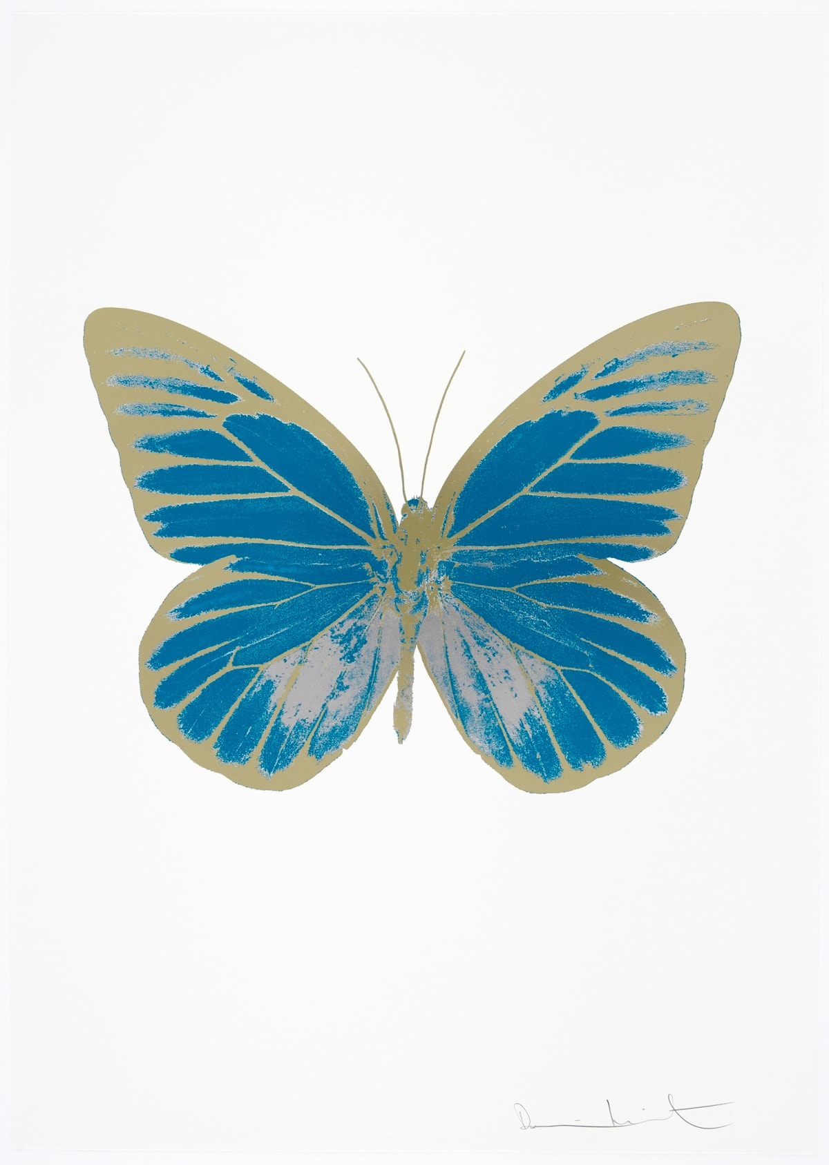 Damien Hirst The Souls I - Topaz/Silver Gloss/Cool Gold, 2010 3 colour foil block on 300gsm Arches 88 archival paper. Signed and numbered. Published by Paul Stolper and Other Criteria 72 x 51cm OC7758 / 659-21 Edition of 15